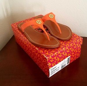 Tory Burch Fire Orange Cameron Thong Sandal